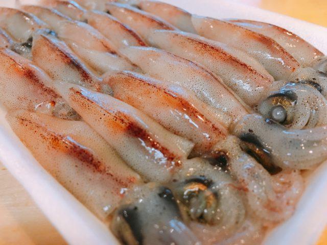 魚たもの安全な生ホタルイカの画像